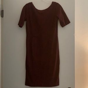 Classic Maroon Business Casual Suit Dress